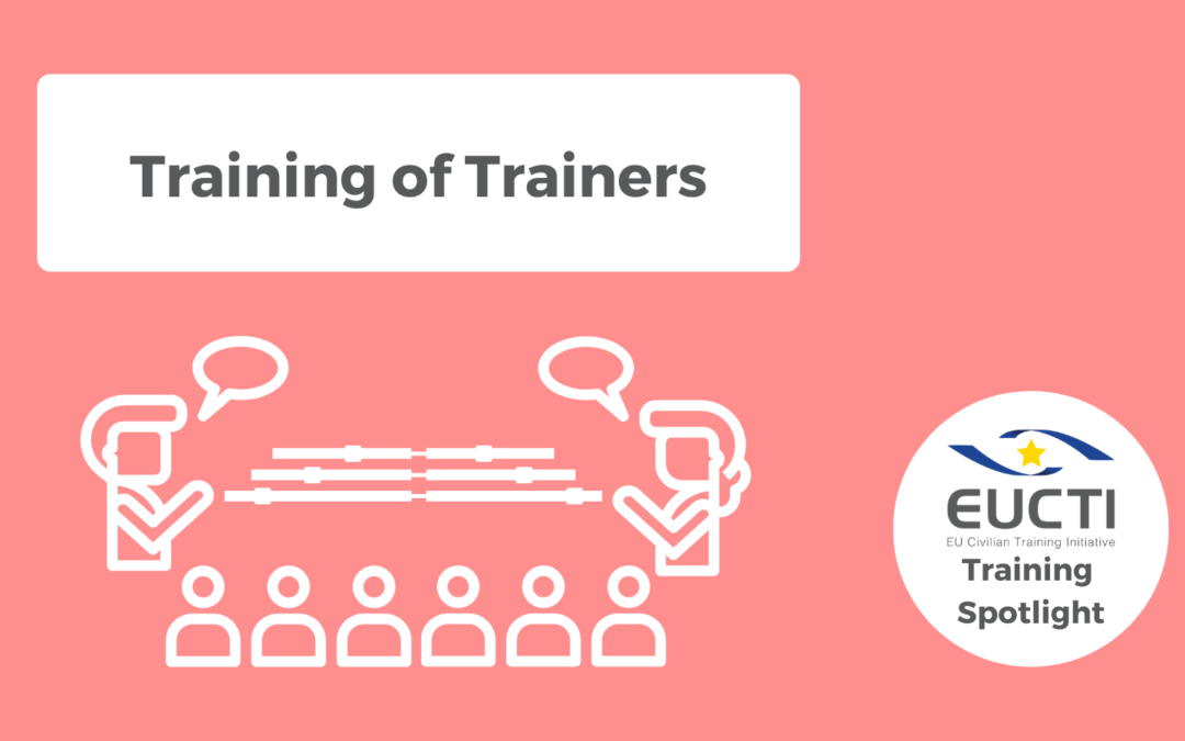 TRAINING SPOTLIGHT: Training of Trainers